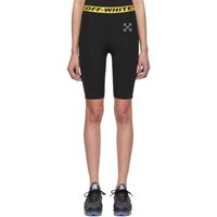 Off White Ssense Exclusive Black Workout 'Sport' Cycling Shorts