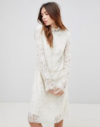 See U Soon Lace Dress With High Neck Cream