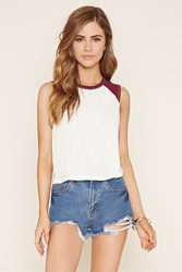 Forever 21 Cut Off Baseball Tee