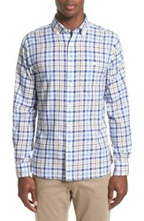 Todd Snyder Men's Trim Fit Plaid Sport Shirt White
