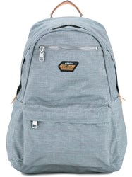 As2ov Front Pocket Backpack Men Nylon One Size Grey
