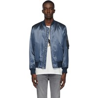 Rag And Bone Blue B15 Manston Bomber Jacket