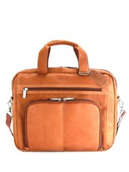 Kenneth Cole Reaction Colombian Leather Expandable 15.4 Computer Portfolio Cognac