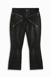 Alexander Wang Cropped Flare Leather Trousers