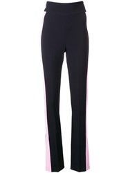 David Koma Side Stripe Trousers Black