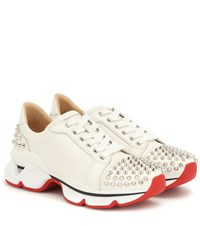Christian Louboutin Vrs 2018 Studded Leather Sneakers White