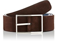 Simonnot Godard Men's Reversible Nubuck Belt Blue
