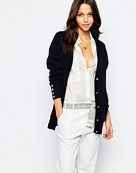 Sessun Button Cardigan In Navy Navy
