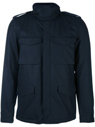 Aspesi Pocketed Military Coat Blue