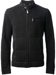 Frankie Morello Ribbed Jacket Black
