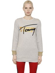 Tommy Hilfiger Collection Embroidered Cotton Jersey Sweatshirt