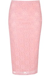 Alice And You Lace Pencil Skirt Pink