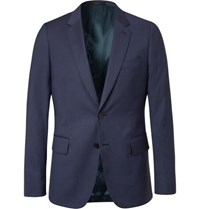 Paul Smith Navy Soho Slim Fit Puppytooth Wool Suit Jacket Navy