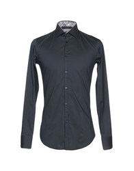 Poggianti Shirts Steel Grey