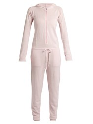 Pepper And Mayne Hooded Cashmere Jumpsuit Light Pink