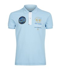 La Martina Slim Fit Pique Polo Shirt Male Light Blue