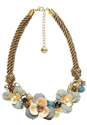 Hallhuber Cord Necklace With Floral Embellishments Multi Coloured Multi Coloured
