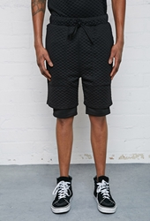 Forever 21 Eptm. Quilted Shorts Black