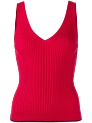 Paul Smith Ps Ribbed Sleeveless Knitted Top 60