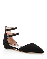 Sarah Jessica Parker Sjp By Consume D'orsay Pointed Toe Flats Black