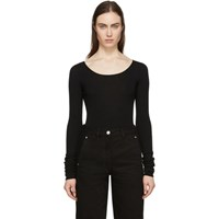 Christophe Lemaire Black Second Skin Long Sleeve Pullover