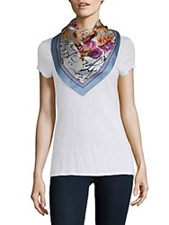 Vince Camuto Love Letter Silk Square Scarf Blue