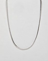 Burton Menswear Chain Necklace In Silver