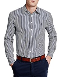 Thomas Pink Fradelle Stripe Classic Fit Button Down Shirt Navy Yellow