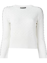 Alexander Mcqueen Perforated Sweater White