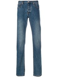 A.P.C. Stonewashed Slim Fit Jeans Blue