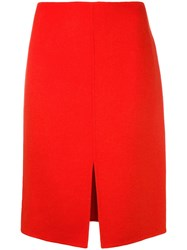 Odeeh Front Slit Skirt Red