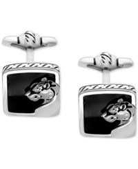 Effy Men's Onyx 15 X 14Mm Panther Cuff Links In Sterling Silver Black