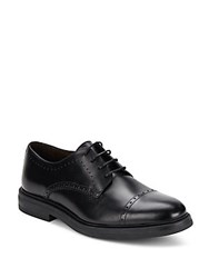 Bruno Magli Leather Lace Up Shoes Black