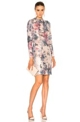 Galvan Desert Rose Cocktail Dress In Floral Pink Abstract Ombre And Tie Dye Floral Pink Abstract Ombre And Tie Dye