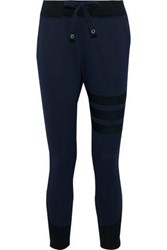 Y 3 Two Tone Knitted Track Pants Navy