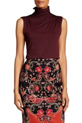 Max Studio High Neck Blouse Red