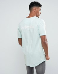 Good For Nothing Muscle T Shirt In Mint With Back Print Mint Green