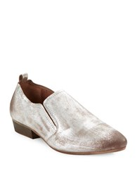 Seychelles Skein Distressed Leather Slip Ons Pewter