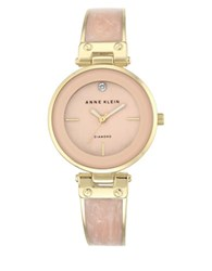Anne Klein Analog Enamel Filled Bangle Bracelet Watch No Color