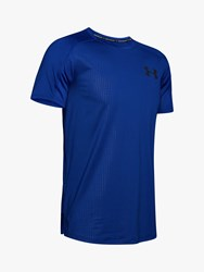 Under Armour Mk 1 Short Sleeve Embossed Training Top Royal Academy