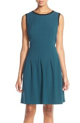 Women's Marc New York Stretch Crepe Fit And Flare Dress Teal