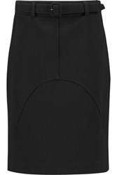 Tom Ford Cargo Belted Stretch Wool Mini Skirt Black