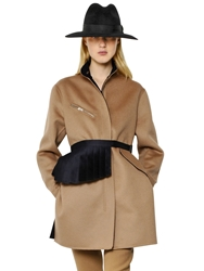 Yang Li Tailored Wool And Cashmere Coat Camel