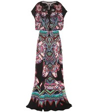 Roberto Cavalli Silk Maxi Dress Multicoloured
