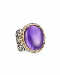 Konstantino Erato Large Oval Amethyst Doublet Ring Purple