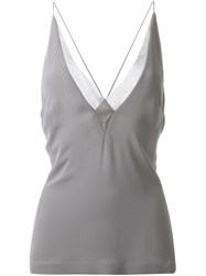 Dion Lee Sheer Fine Line Cami Green
