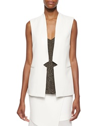 Haute Hippie Inverted Suiting Crepe Vest