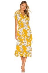 Cleobella Myra Wrap Dress Yellow