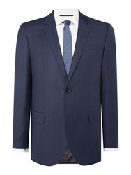 Hugo Men's C Huge Pin Dot Slim Fit Suit Jacket Blue