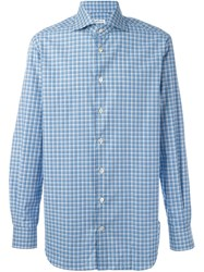 Kiton Plaid Shirt Blue